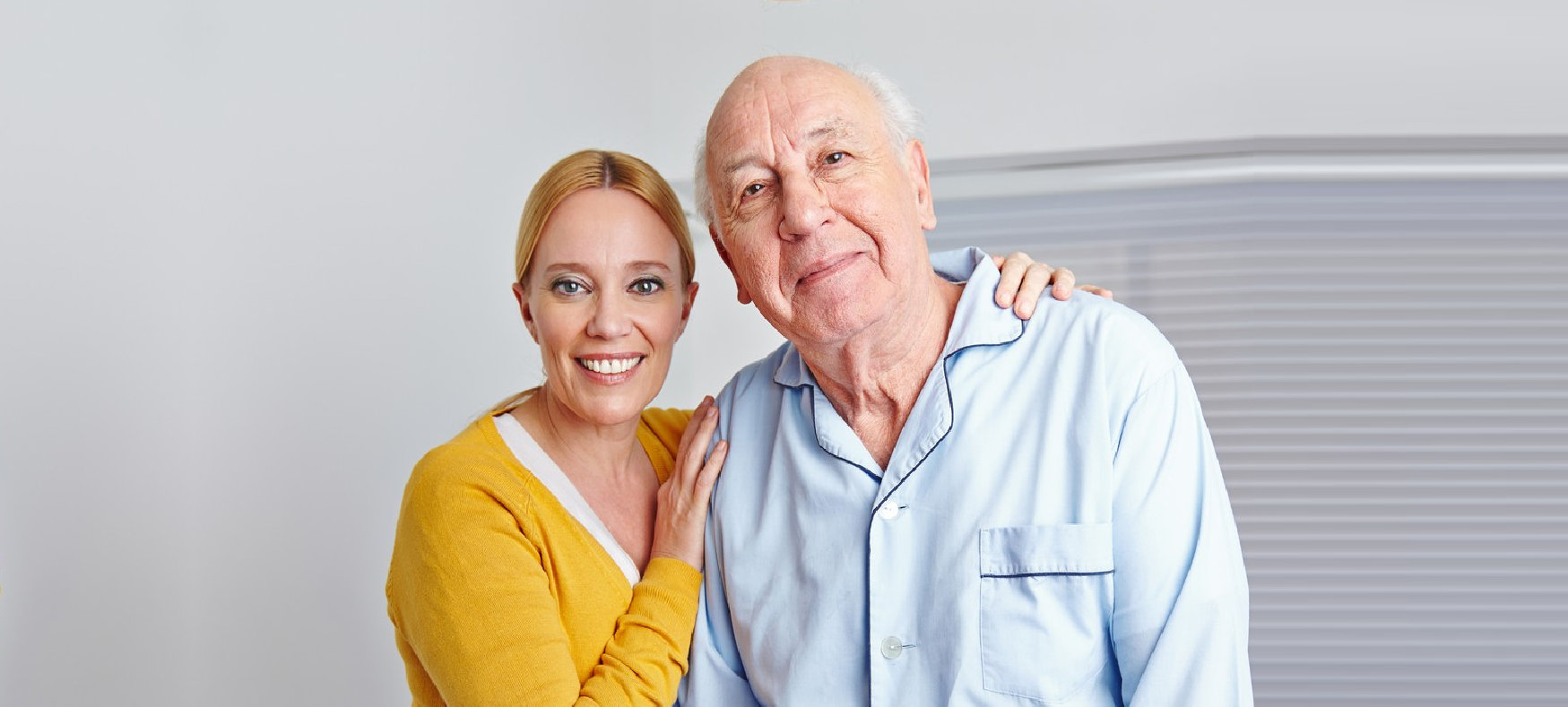 old couple in the bed